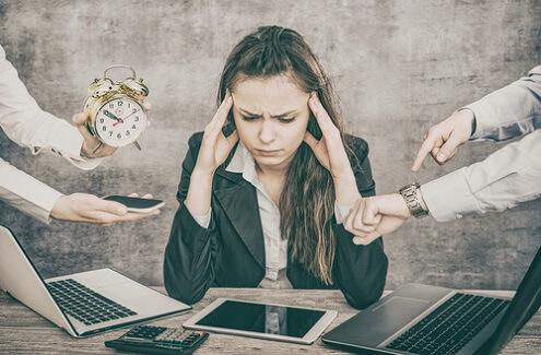 Collega met burnout